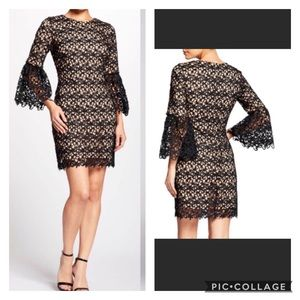 🌻 Dress the Population Paige Crochet Shift Dress
